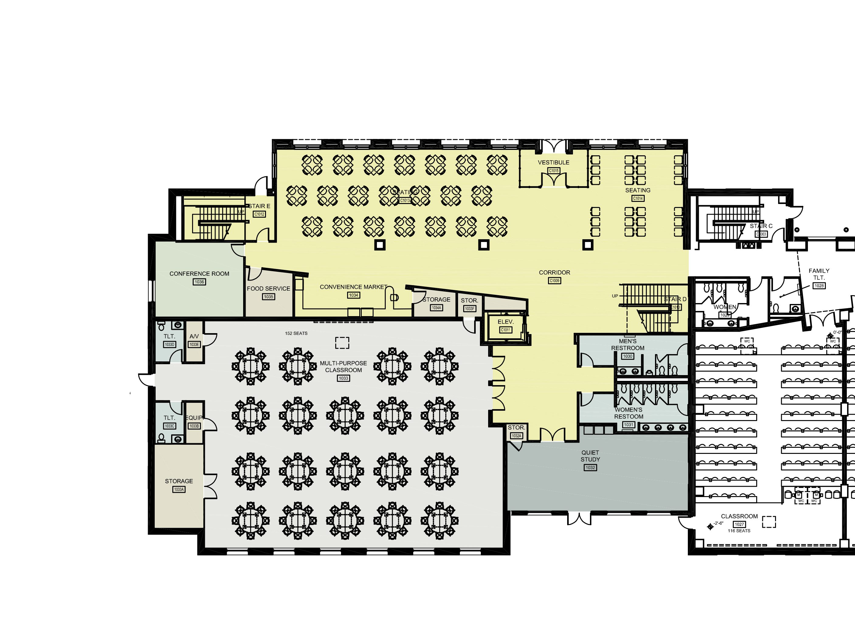 Link leads to large image version of first level Floor Plan. Phone: 205.348.9876 or email: ahamlett@ua.edu for further information.