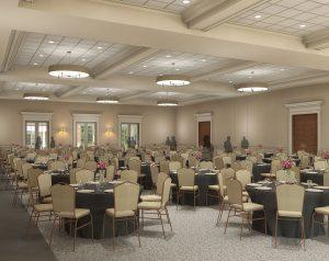 Computer rendering of ballroom.