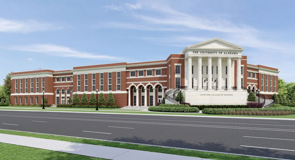 A digital rendering of the College of Nursing expansion.