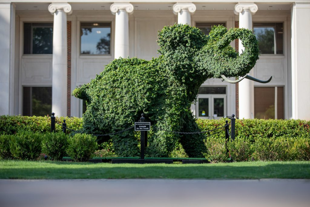 The Ivy Elephant in front of Rose Administration Building